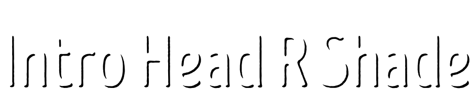 Intro Head R Shade Font Download Free